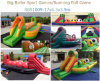 New Arrival Inflatable Halloween Big Baller Game/ Inflatable Wipeout Game with Pumpking Faces