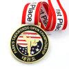 Custom America Zinc Alloy Gold Soft Enamel Taekwondo Sport Medal