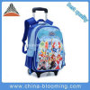 Children Cartoon Kids Boys Book Trolley School Bag with Wheels