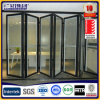 Aluminum Interior Folding Glass Door 2.0mm Thickness with Screen