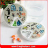 Plastic Round 7 Days Pill Box (KL-9066)