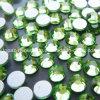 Peridot Flat Bottom Silver Foil Crystal Glass Rhinestone (FB-ss16 peridot)