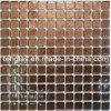 Brown Golden Foil Glass Mosaic for Kitchen Tile (TG-TB-069)