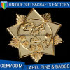 2017 Hot Sales Gift Customized Metal Gold Badges