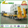 Automatic Rear Ladder Two Axles Low Bed Trailer