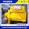 China Leading Twin Shafts Electric Concrete Mixer