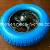 3.25-8 Korea Wheelbarrow PU Foam Tyres with Plastic Rim and Axle
