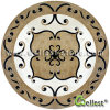 Hotel Project Material Natural Marble Waterjet Round Shape Medallion