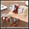 Mini Clear Faceted Jar / Beans Storage Bottle