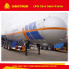 Africa Widely Used LPG Tanker Trucks Trailer/Tank Semi-Trailer