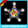 Glittering Metal Badge Pin for Holiday Gifts (TH-LED pin045)