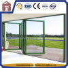 Fingertip Control Double Glass Aluminium Folding Doors