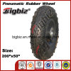 for South America Market Small Pneumatic (200 50 100) Rubber Roller Skate Wheel