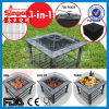 BBQ Table Grill 3in1 Fire Pit Outdoor Garden Courtyard Square Fireplace Camping