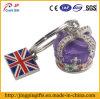 2016 Hot Sale Mosaic Diamond Metal Rotating Key Ring