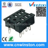 General Miniature Square Type Electro-Magnetic Power Relay Socket with CE