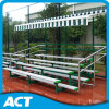4-Row Flat Back Aluminum Gym Bleacher for Outdoor with Shade