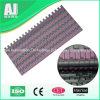 Inclined Conveyor Rubber Top Plastic Modular Conveyor Belt (Hairise1005)
