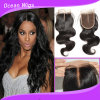 2015 New Arrival Silk Base Top Lace Closure with Baby Hair Peruvian Hair Body Wave