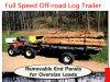 Log Trailer Made of off Road ATV Trailer