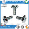 Truss Head Square & Slotted Combo Drive Machine Screw, Zinc Plated