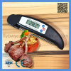 Digital Food Meat Folding Portable Thermometer for Cooking Kitchen BBQ Thermometer Black