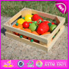 2015 New Invention Wooden Cutting Fruit Vegetable Toy, 12 Fruits Cutting Toy in Wooden Box, Colorful DIY Cutting Fruit Toy W10b108