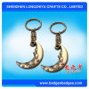Sleeping Moon 3D Keychain Antique Gold Plating