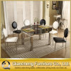 Modern Dining Room Stone Top Stainless Steel Table Chair Sets