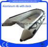 Aluminium V Hull Boat with Inflatabe PVC or Hypalon Tube