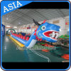 Customized Long Inflatable Dragon Boat, Banana Boat, 2017 New Design Blue Dragon Boat