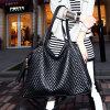 2017 New Leisure Street Black Lingge Shoulder Messenger Bag Large Bag Handbags