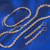 Xuping Fashion Jewelry Multicolour Chains Set (61185)