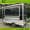 2017 New design square mobile food trailer with brake system
