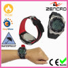 Black/Red 3D Sensor Pedometer Watch