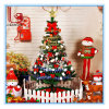 Encryption 1.5 Meters Plastic Christmas Tree with Christmas Decoration