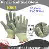 7g Kevlar Knitted Glove with 2-Side PVC Dotted/ En388: 234X