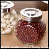 Beans Glass Storage Jar / Clear Faceted Jar