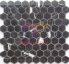 Black Natural Marble Tile Hexagon Mosaic (CFS1120)