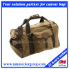 Mens Leisure Waxed Canvas Duffle Bag for Traveling and Hiking