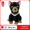 100% Polyester Black Custom Soft Plush Dog Stuffed Animals