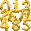 Gold Silver Number Foil Balloons Digit Air Ballons Happy Birthday Wedding Decoration Letter Balloon ...
