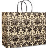 Onyx Damask Vogue Shoppers Cheap Recycled Brown Kraft Paper Bags