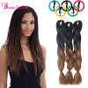 3X Jumbo Twist Braid Ombre Xpression Kanekalon PC100g Synthetic Two Tone High Temperature Fiber Jumbo Braid