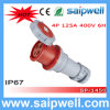 Saip 2014 New Cee/IEC IP67 4p 125A Electrical Connectors