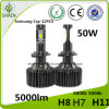 Upgraded 50W 5000lm P7 LED Car Headlight with Ce RoHS