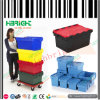 Stackable Plastic Logistic Box with Hinged Lid