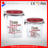Wholesale Airtight Clear OEM Jars with Plastic Lids