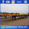 Triple Axles 40 Ft Flat Bed Container Semi Trailers