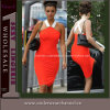 Orange Sexy Lady Halter Pencial Evening Party MIDI Dress (6501)